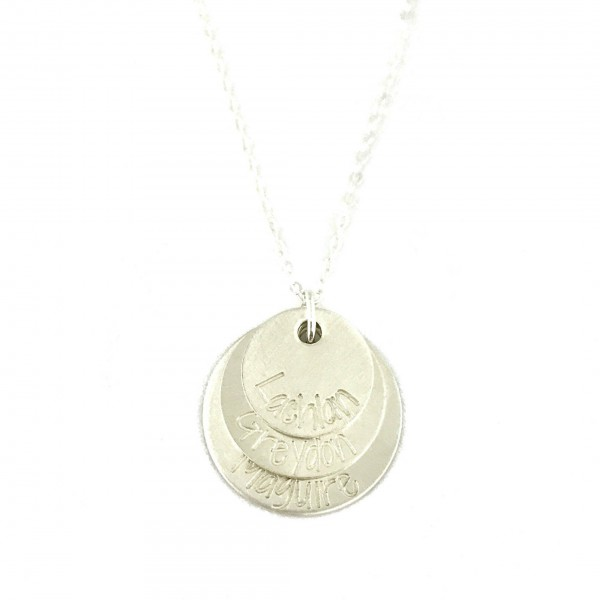 mother s necklace wedding gift sterling silver stacked layered