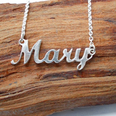 NAME NECKLACE SILVER, Personalized Name Necklace with Name of Your Choice, Name Necklace Carrie Style, Free Shipping