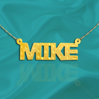 Name Necklace - 18k Gold Plated Sterling Silver Handcrafted - Personalized Name Necklace - Made in USA
