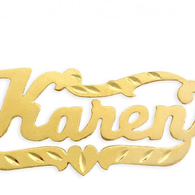 Name Necklace 18k Gold Plated Sterling Silver Personalized Name Necklace - Made in USA