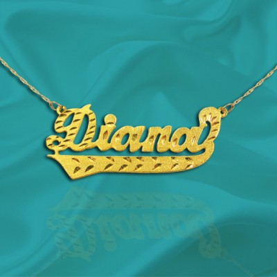 Name Necklace 18k Gold Plated Sterling Silver Personalized Name Necklace with Name of Your Choice - Made in USA