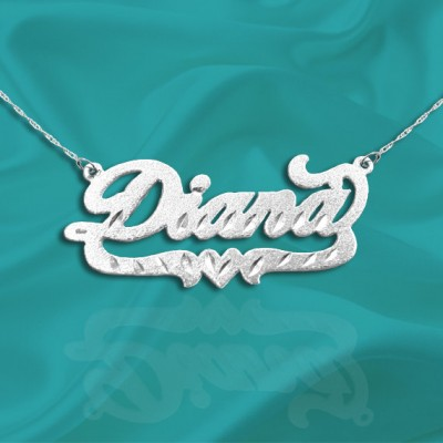 Name Necklace 925 Sterling Silver Handcrafted Personalized Name Necklace with Name of Your Choice - Made in USA
