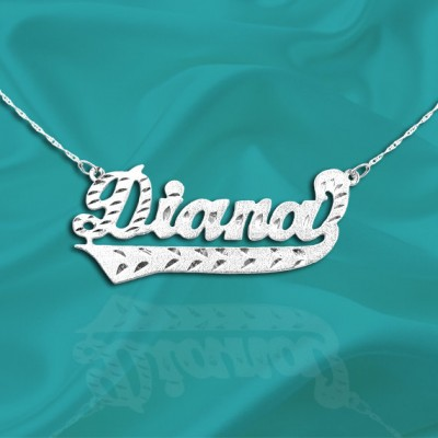Name Necklace 925 Sterling Silver Personalized Name Necklace with Name of Your Choice -Made in USA