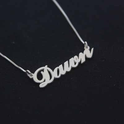 Name Necklace Carrie 925 Sterling Silver Handcrafted Personalized Name Necklace / Dawn Necklace / Any Name / Carrie Style / Love / Jewelry