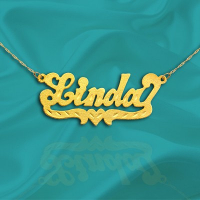 Name Necklace Gold - 18k Gold Plated Sterling Silver - Personalized Name Necklace - Made in USA