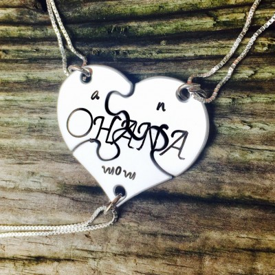 Ohana Necklace, Valentine 2018, Hawaiian Jewelry, Best Friend Necklace, Mom Necklace, Mother Daughter Jewelry, Hawaiian Gifts