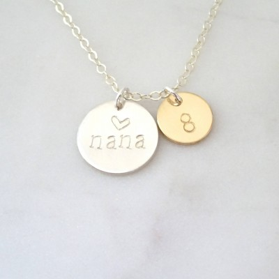 Personalized Christmas gift for grandma, nana necklace, Pregnancy announcement necklace, Grandmother jewelry, Custom numer of grandchildren
