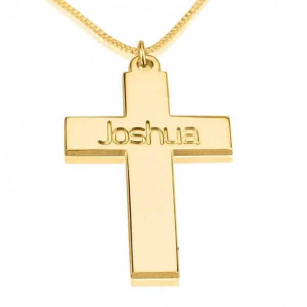 Personalized Cross Necklace, 18k Gold Plated Cross Necklace, First Communion Gift, Confirmation Gift,