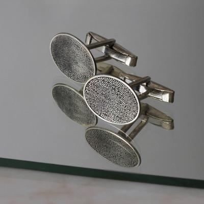 Personalized Finger Print Cufflink, Finger Print Cufflink, Custom Cufflink, Silver Necklace,Gold,Rose,Gift