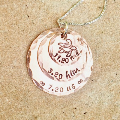 Personalized Necklace Me Him Us, Personalized Couples Necklace For Her, Valentine Gift, Hand Stamped Necklace, Natashaaloha