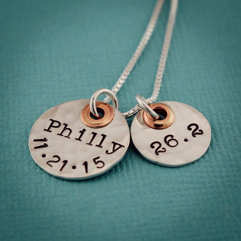 4816415be0b68 Personalized Running Marathon Necklace Customized Runner's Jewelry ...