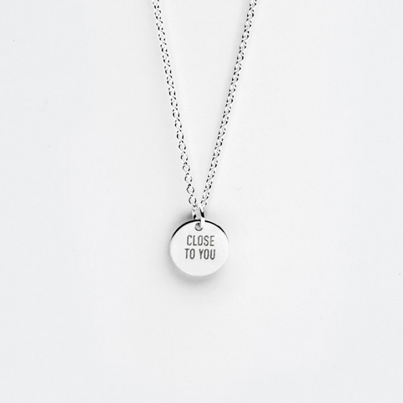 Sterling Silver Message Charm Necklace
