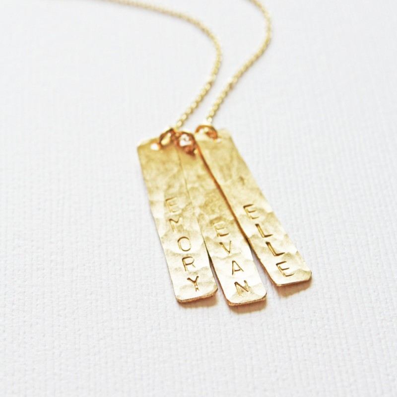 Custom Gold Bar Necklace,Silver Bar Necklace,Bar Necklace for Women,Name Necklace for Mom,Mother/'s Day Gift