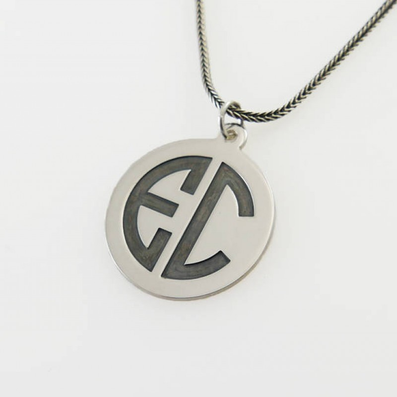 Personalized Men Necklace Initial Necklace Sterling Silver Letter Necklace Silver Initial Necklace Men Silver Necklace Initial Jewelry