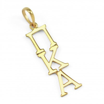 Pi Kappa Alpha 18k Solid Gold Pendant // ΠΚΑ Fraternity Jewelry // Big and Little Gifts // Solid Gold // Real Gold Necklace