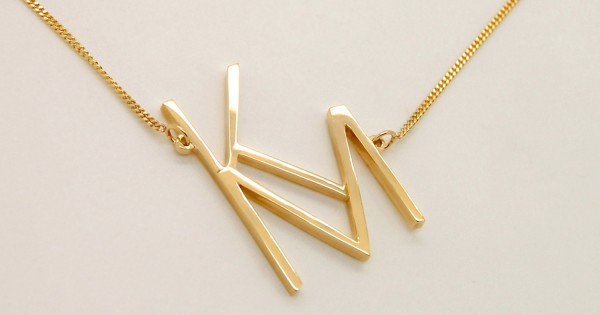 Sideways Monogram Necklace Two Letters Necklace Gold 14k Gold Initial Necklace Letters Km Two Initials Necklace Monogrammed Christmas Gift