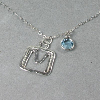 Silver Initial Necklace 500181fbbb
