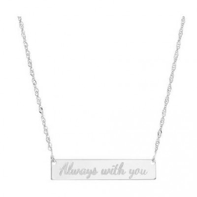 Silver Name Necklace - Personalized Necklace - Personalized Bar Necklace - Personalized Jewelry - Personalized Gift - Engraved Necklace