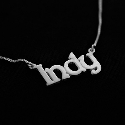 Silver name necklace / Indy Necklace / Any Name / Silver Name Plate / Personalized name necklace / Necklaces / Name / Name Jewelry