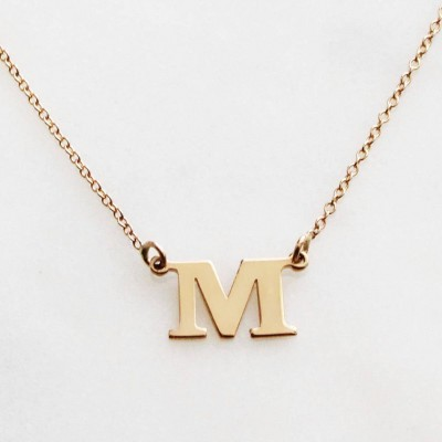 Silver/Gold Initial Necklace