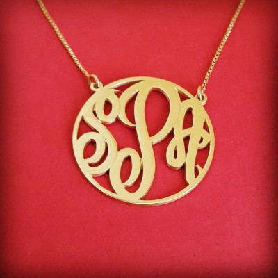 Small Monogram Necklace Mini Monogram Necklace 18k Gold Monagram Necklace Tiny Monogram Necklace Birthday Gift Monogram Gold Initials