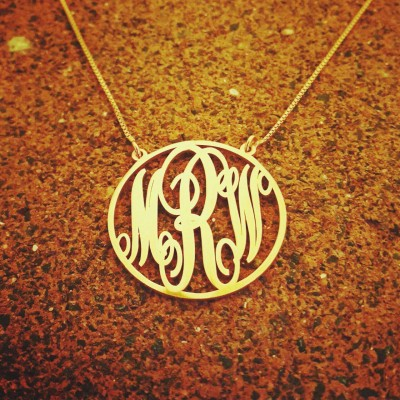 Solid 14k gold monogram pendant monogram necklace monogrammed solid 18k gold monogram pendant monogram necklace monogrammed chain 18k gold chain aloadofball Image collections