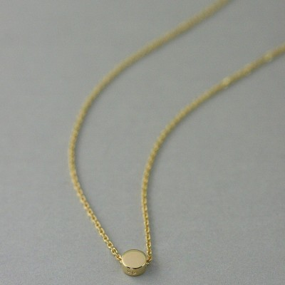 Solid gold circle necklace, gold dot Necklace, 18 k gold necklace, solid gold jewelry, delicate gold necklace, gold jewelry, minimalist