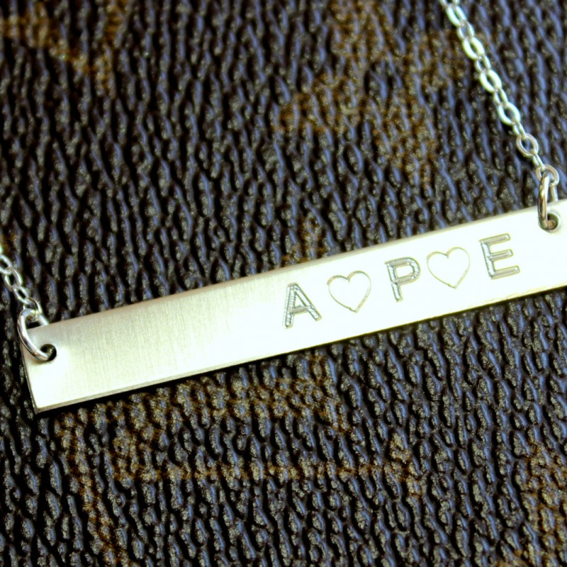 silver bar personalised necklace Personalised bar Sterling Silver necklace persalized necklace bar personalised bar