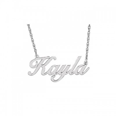 Sterling Silver/Gold-Plated Script Nameplate Necklace