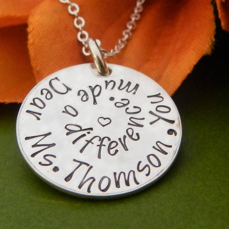 teacher gifts personalized preschool teacher christmas gifts you made a difference mentor appreciation gift from student teacher necklace