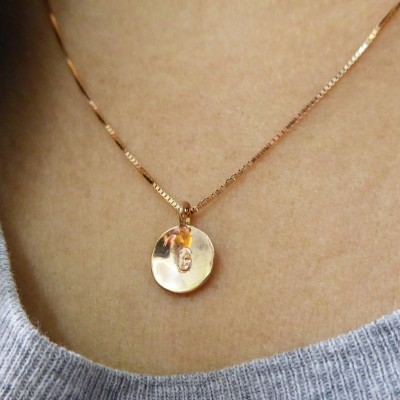 Tiny 18k gold initial necklace. Initial pendant. Letter charm necklace. bridesmaid gift. Personalized necklace. Gold pendant . Gift ideas