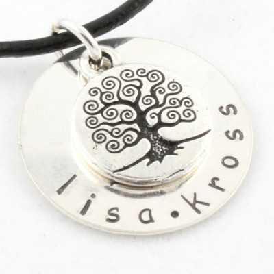 Tree of Life Necklace - Personalized Necklace - Christmas Gift for Mom - Family Tree Necklace - Custom Sterling Silver Necklace