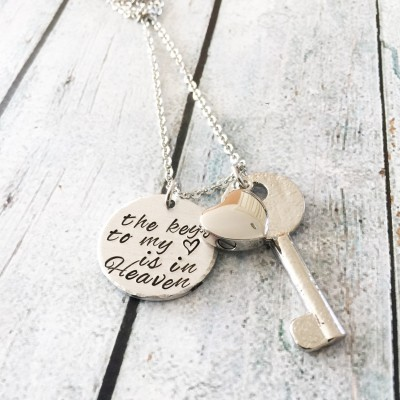 Urn necklace - Hand stamped necklace - Loss necklace - Cremation jewelry - Memorial necklace - Sterling Silver heart - Cremation necklace