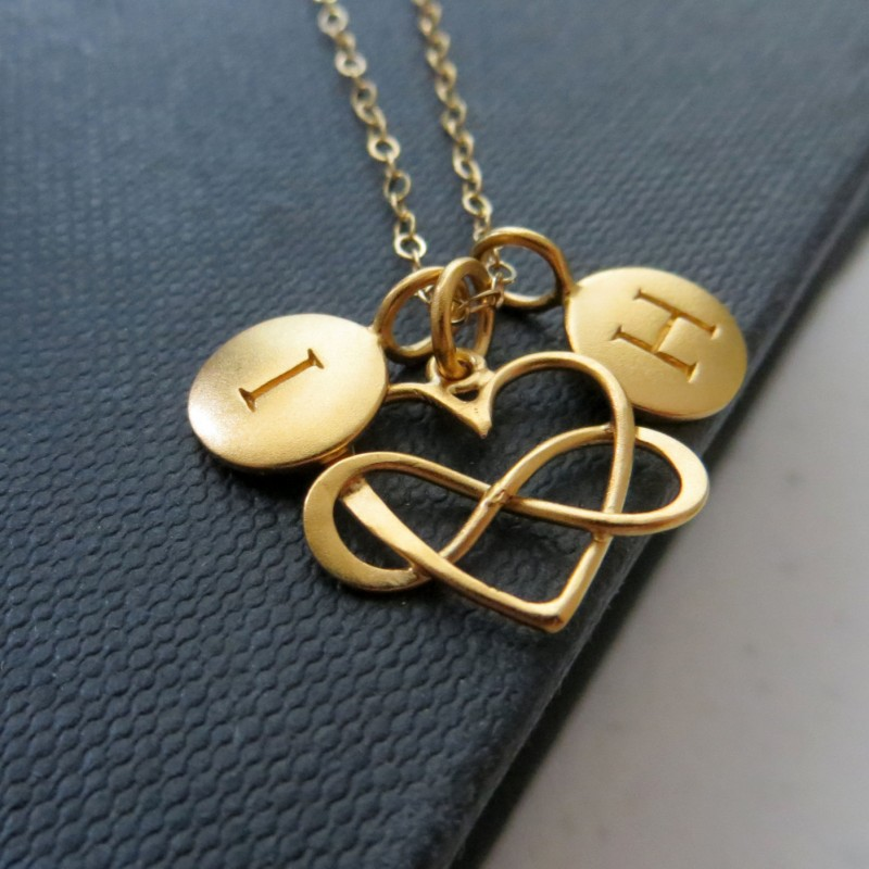 Valentines Day Gift For Wife From Husband Infinity Heart Initial