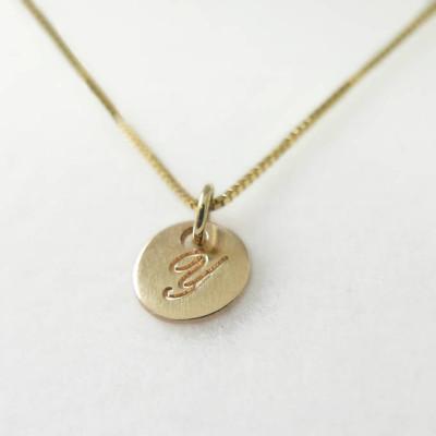 Very tiny 14k gold necklace initial pendant letter charm necklace very tiny 18k gold necklace initial pendant letter charm necklace personalized necklace aloadofball Choice Image