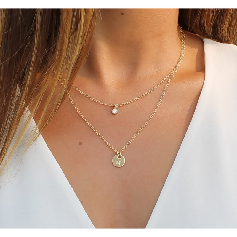 14k Gold Filled BLUE TOPAZ Double Layer Body Chain Dainty Gold Body Chain Real Gold Body Chain