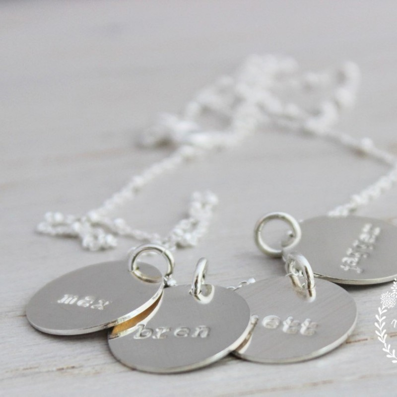 Mommy Jewelry Personalized Necklace Layered Love Mom Necklace Birthday Gift Kids name circle necklace Mothers Necklace Gift for Mother