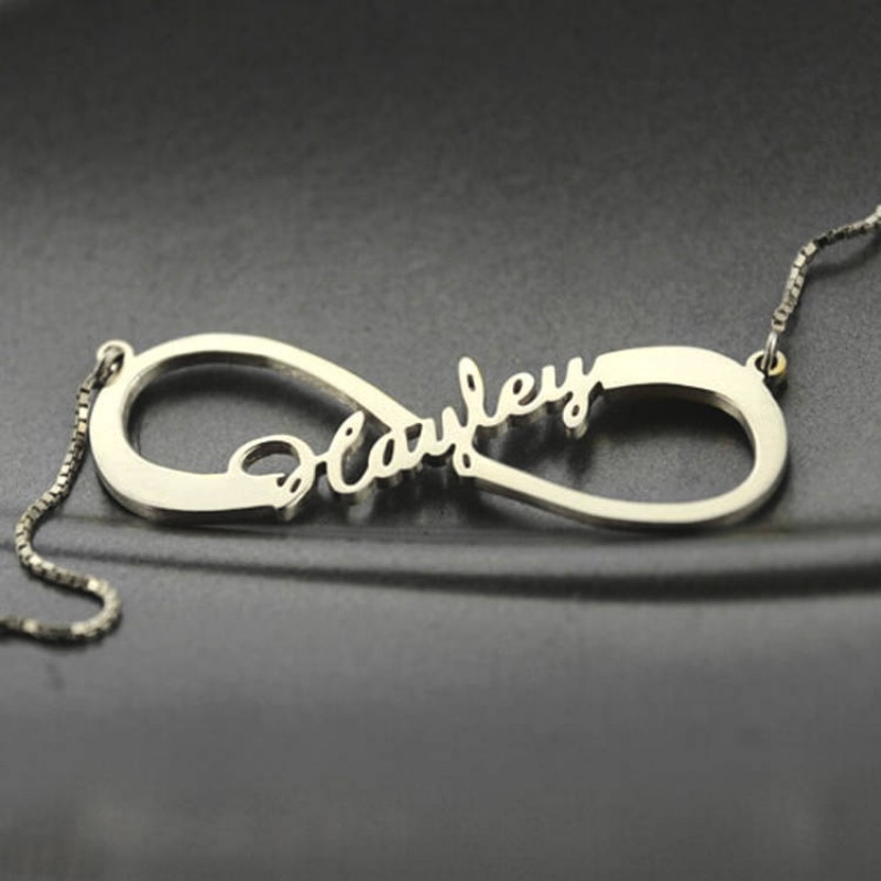 c11a96b6c1a7d sterling silver infinity name necklace silver infinity symbol ...