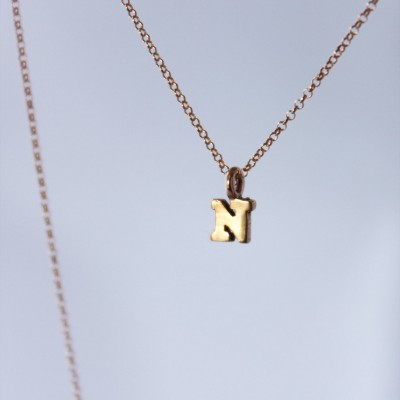 tiny rose gold letters or numbers. 18k pink gold vermeil charms. rose Gold Plated chain • • initial necklace