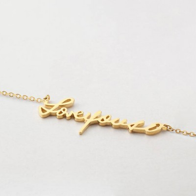 Actual handwritten necklace MEDIUM SIZE • Gold handwriting necklace • Remembrance gift • Bereavement gift • Memorial gift