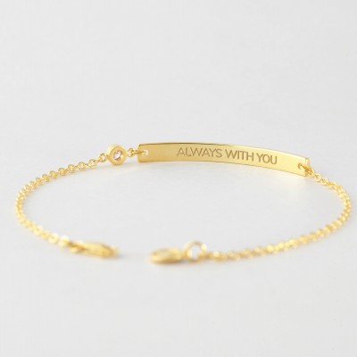 Coordinates Bracelet with Birthstone • Latitude Longitude Jewelry • Coordinates Jewelry • Coordinates Gift in Sterling Silver