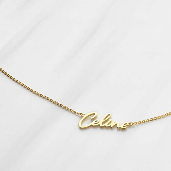 Cursive Name Necklace - Script Name Necklace - Gold Necklace With Name - Personalized Name Necklace - Custom Name Necklace