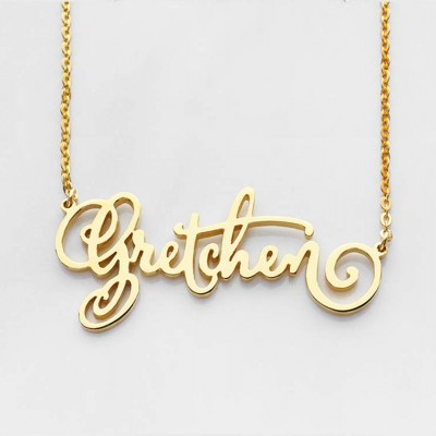 Custom Name Necklace • Calligraphy Name Necklace • Gold Name Jewelry • Name Necklace in Sterling Silver Jewelry • Birthday Gift