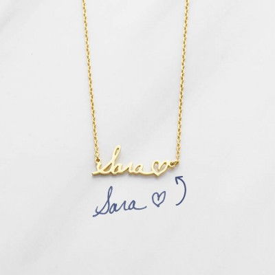 DAINTY signature necklace • Handwriting necklace in sterling silver • Keepsake necklace • Memorial gift • Keepsake necklace