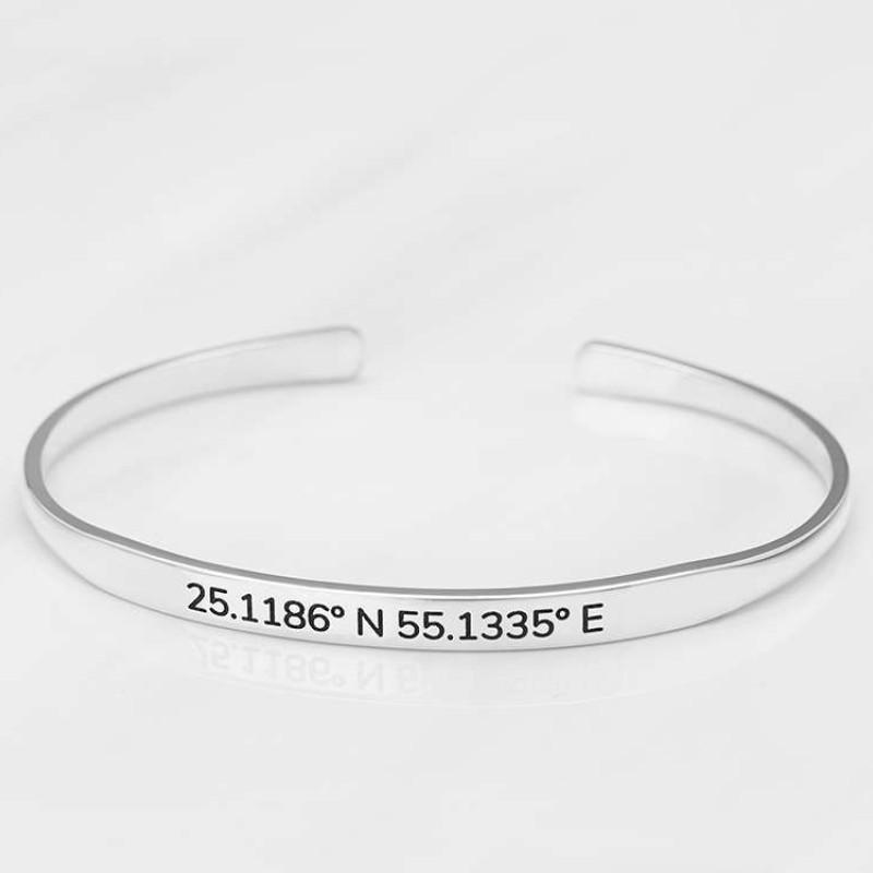 Dainty Coordinates Bracelet Gps Jewelry