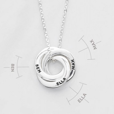 Dainty mother necklace • Circle of love necklace • Children's names necklace • Mother jewelry • Gift for mom • Mother of 3