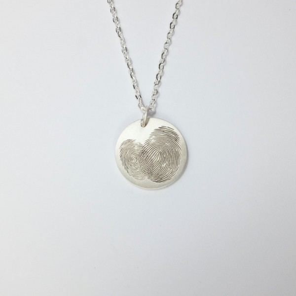Disc Necklace LARGE SIZE - Engraved Pendant - Unique Couple Gift - Anniversary/Engagement Gift - Silver/Gold Keepsake Jewelry