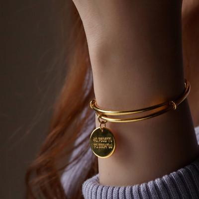 Expandable Coordinates Bangle • GPS Coordinates Bracelet • Longitude and Latitude Bracelet • Mother's Gift • Anniversary Gift