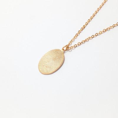 Fingerprint Necklace • Fingerprint Jewelry • Bereavement Jewelry • Unique Sympathy Gift in Sterling Silver