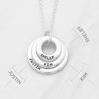 Grandmother necklace • Personalized nana gift • Multiple name necklace • Personalized mother necklace • Kid's name necklace